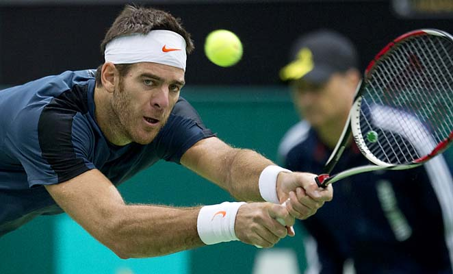 Juan Martin del Potro borrowed a fan's camera phone and took a picture during his win.