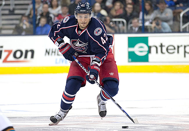 Anisimov has four goals and six points in 15 games this season, his first with the Blue Jackets.