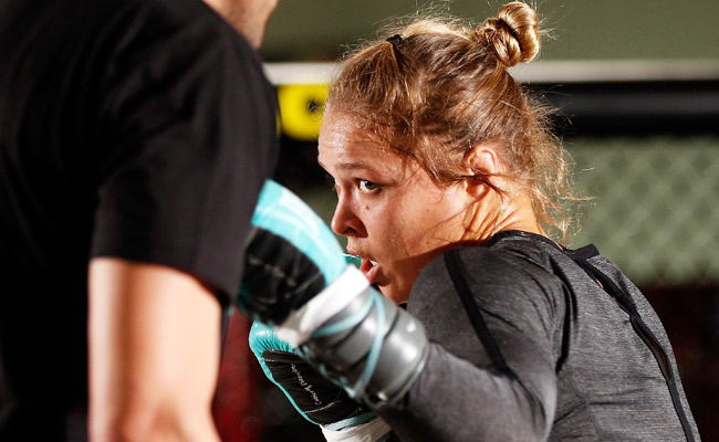 Ronda Rousey will make her UFC debut on Feb. 22 in Anaheim and is expected to defeat Liz Carmouche.