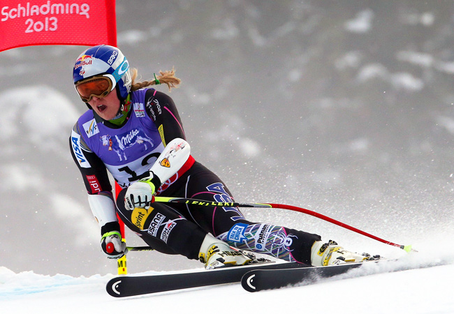 Lindsey Vonn crashed moments after this photo was taken on the super-G course in Austria.