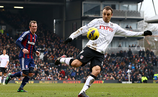 Dimitar Berbatov's wondrous volley was all that Fulham needed to hold off Stoke at Craven Cottage.