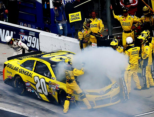 Matt Kenseth pits after a malfunction.