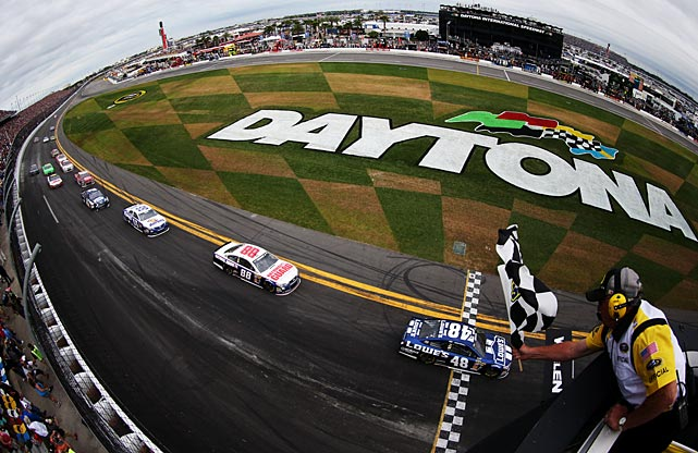 Jimmie Johnson won the 55th running of the Daytona 500, his second career win in the Great American race.