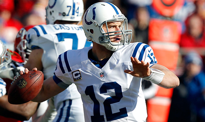 Andrew Luck's 54.1 completion percentage was worst among rookies with more than 200 passing attempts.