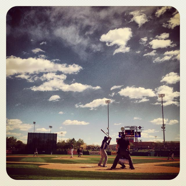 #Dodgers and #WhiteSox spring training baseball in Arizona today.