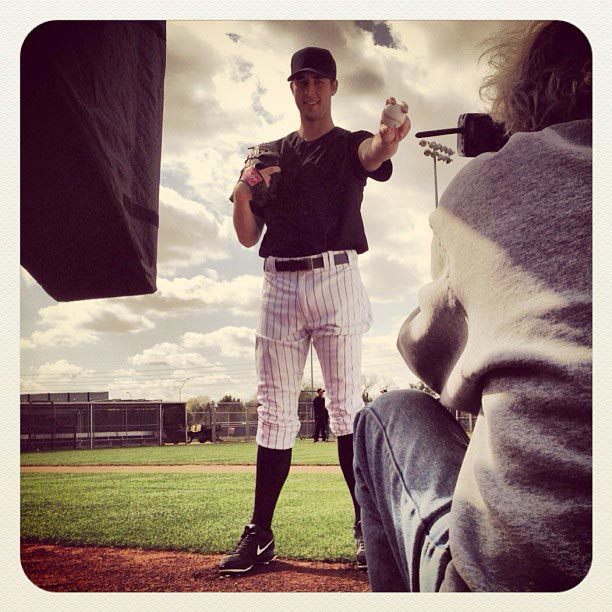 Jeff Francis of the #Rockies poses for a photo shoot at #springtraining.