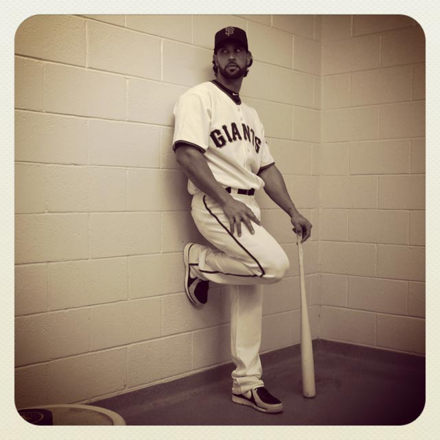 Angel Pagan of the #sfgiants poses on photo day at #springtraining. #instantbaseball