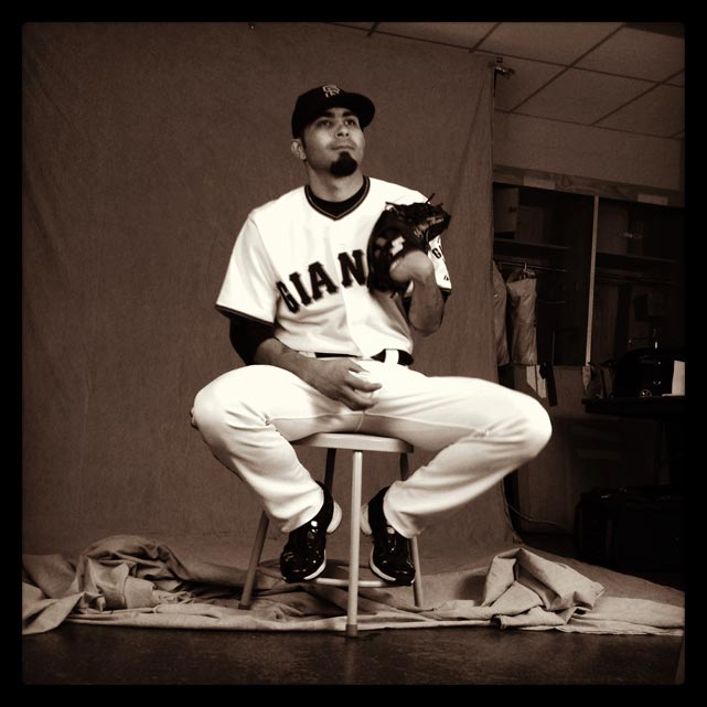 Sergio Romo of the #sfgiants poses on photo day at #springtraining. #instantbaseball