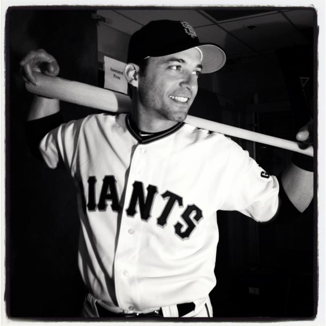 Marco Scutaro poses on #sfgiants photo day thus morning at #springtraining. #instantbaseball