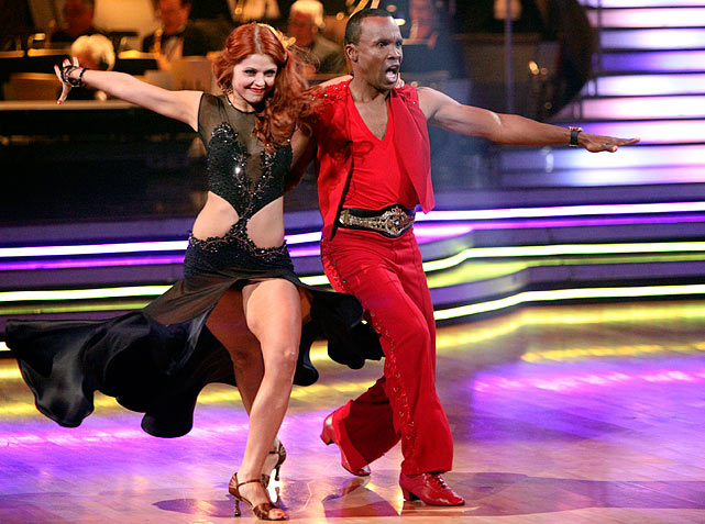 The retired professional boxer finished in 9th place with dancing partner Anna Trebunskaya.