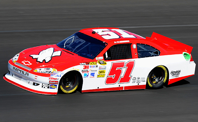 A.J. Allmendinger will drive the No. 51 Guy Roofing Chevrolet for Phoenix Racing in Phoenix.