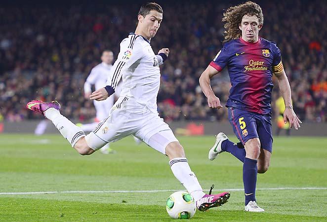 Cristiano Ronaldo and Real Madrid's hopes in La Liga, where Barcelona leads, are shot.