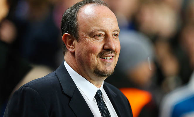 Rafa Benitez and Chelsea are in fourth place in the English Premier League.