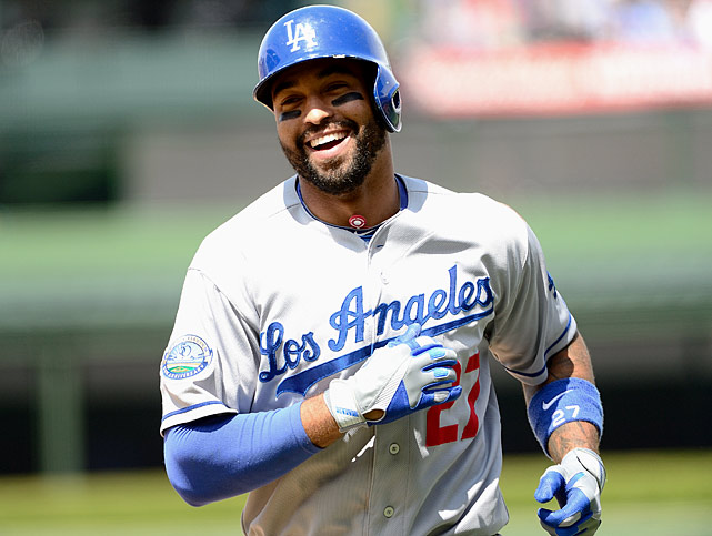 Kemp is coming off an injury-plagued, age-27 season that's keeping him from being the No. 1 overall pick in fantasy this year. He went from around .325/40/125/115/40 to being worthless in the second half, which is fantasy crunch time. That's enough to embitter many fantasy owners, so if Kemp slips into the middle of Round 1, consider him a steal. Regardless of the hamstring woes that slowed him in midseason or the shoulder procedure he is recovering from now, Kemp will be ready for spring training and will hit in the heart of a potent lineup. He'll be a fantasy star again.