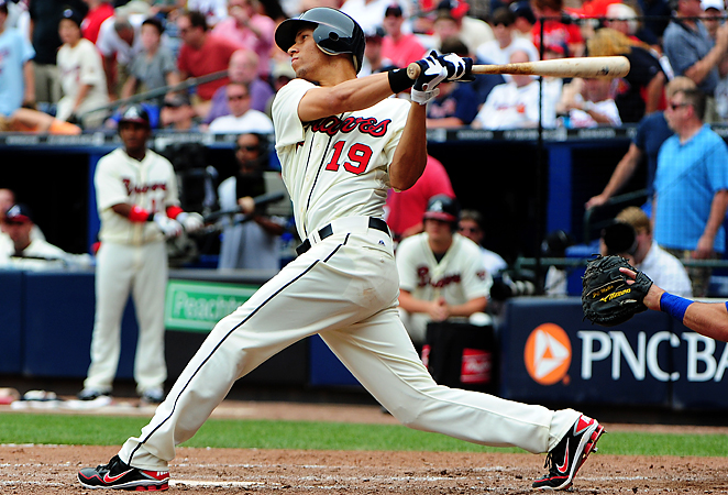 Roster shuffling could lead to 23-year-old shortstop Andrelton Simmons batting leadoff for the Braves.