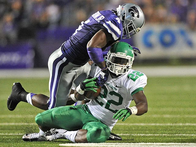 Every time I think of really boosting Brown, I recall Kansas State's game against Oregon, when Brown looked totally lost against the zone-read. Still, he is a solid prospect and can play a number of positions. A nagging shoulder injury is a worry.