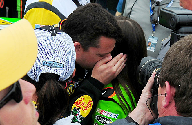 Tony Stewart offered Danica Patrick some comforting words and encouragement at Daytona.