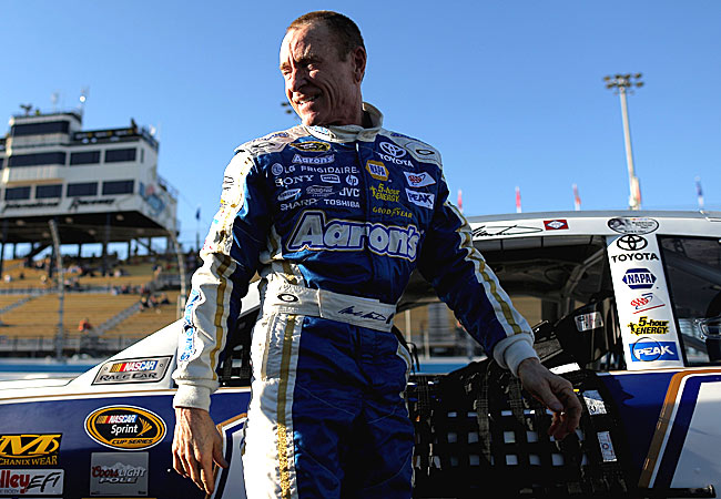 Mark Martin became the second-oldest pole-sitter in NASCAR history.