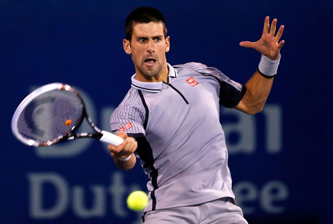 Novak Djokovic captured his fourth Dubai Championships title by taking down Tomas Berdych 7-5, 6-3.