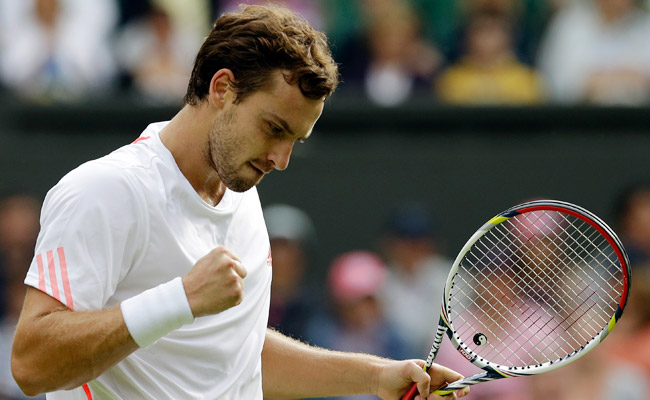 Ernests Gulbis upset Tomáš Berdych during a first-round match at Wimbledon in June 2012.