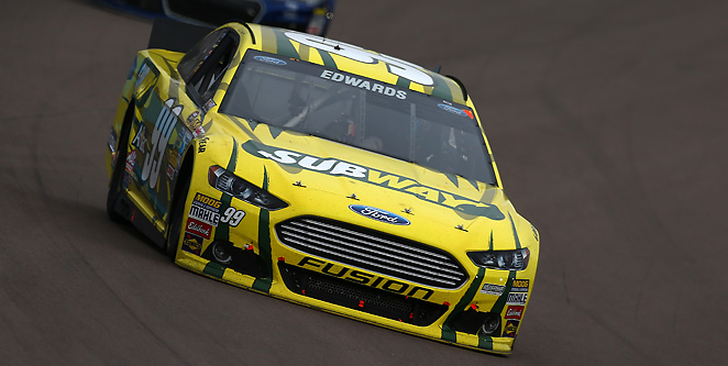 Carl Edwards ended an unfortunate streak of crashes and won the Subway Fresh Fit 500.