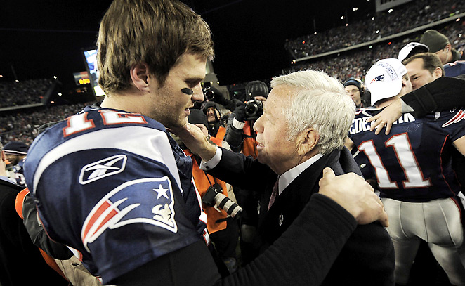 Ten of the 14 playoff trips since Robert Kraft bought the Pats in '94 have been led by Tom Brady.