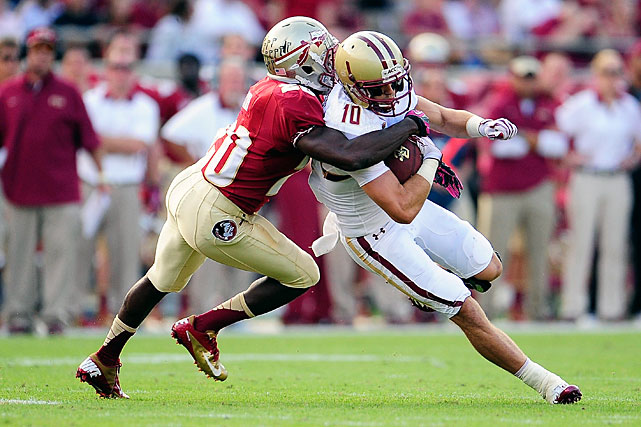 Joyner delighted Seminoles' fans with his decision to return to Tallahassee for his senior year. Though he's only 5-foot-8, Joyner has made 27 consecutive starts for Florida State, and he recorded 51 tackles, an interception and six passes defended last season.
