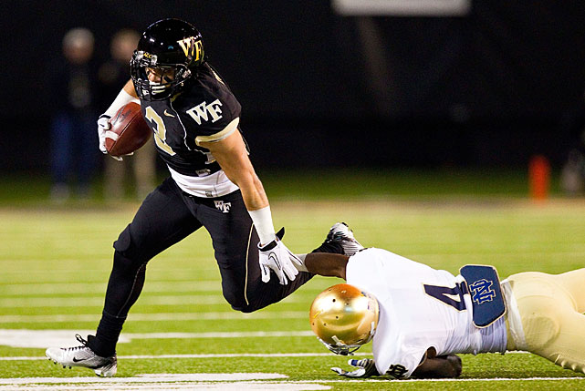 Quarterback Tanner Price's favorite target, Campanaro led the ACC with 7.9 receptions per game in 2012. He made 79 catches overall, and he stepped up his performance in the red zone. Campanaro made six touchdown grabs, an improvement from his total of two the year before.