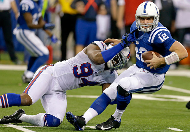 The highest-paid defensive player by far, Mario Williams struck it rich when he moved from Houston to Buffalo before the 2012 season. The Bills lured the former No. 1 pick with a six-year contract worth $96 million. He had only 10.5 sacks and two forced fumbles in 2012 and Buffalo's defense struggled, giving up 27.2 points per game.