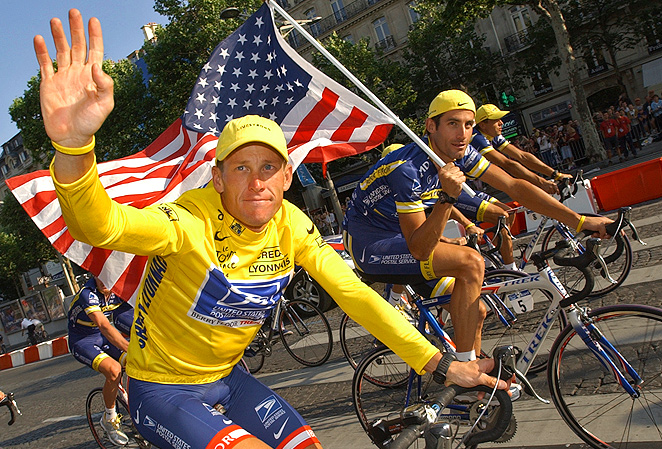 Lance Armstrong was awarded the Chevalier de la Legion d'Honneur in 2005 to recognize his seven Tour de France wins.