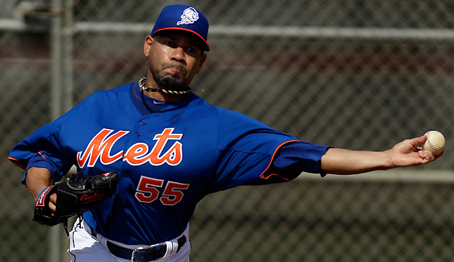 Pedro Feliciano pitched effectively with a heart monitor during his first spring training outing.