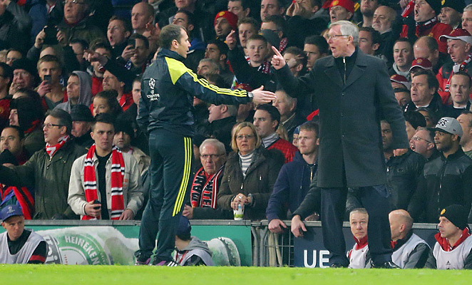 Sir Alex Ferguson reacted angrily to Nani's red card in the second half against Real Madrid.