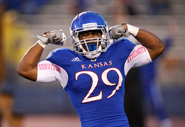 For a team that didn't beat an FBS opponent last season, Kansas can at least take pride in its running game. There may not be very many reasons to be excited for football season in Lawrence, but Sims' return should be at the top of the list. The dynamic running back averaged a Big 12-best 112.6 yards per game despite sharing carries with Tony Pierson and Taylor Cox. Any hope for a successful Jayhawks' campaign rely on Sims, the first KU player to top the 1,000-yard rushing plateau since 2006.