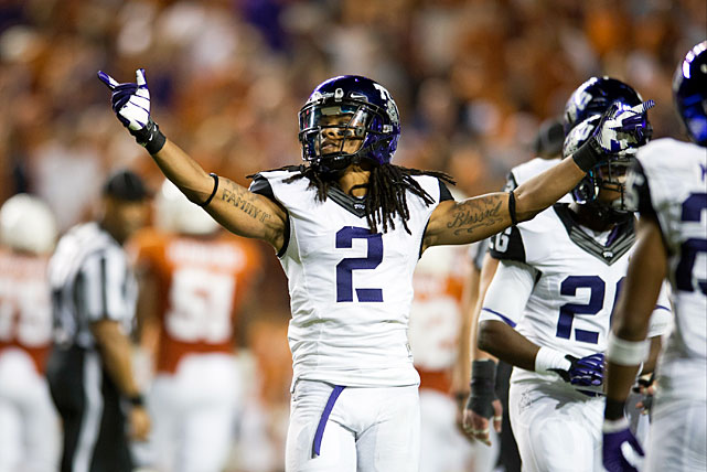 As far as quality pass coverage in the Big 12 went last year, there was Verrett and then there was everyone else. The junior cornerback racked up 22 passes defended (tied for the most in the nation) and six interceptions; no other player in the conference had more than 15 passes defended. The Horned Frogs' secondary seems to be in good hands with the All-America defensive back entering his third season as a starter.