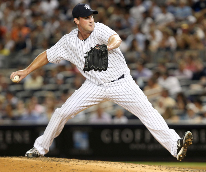 Derek Lowe split the 2012 season between Cleveland and New York as a reliever and starter.