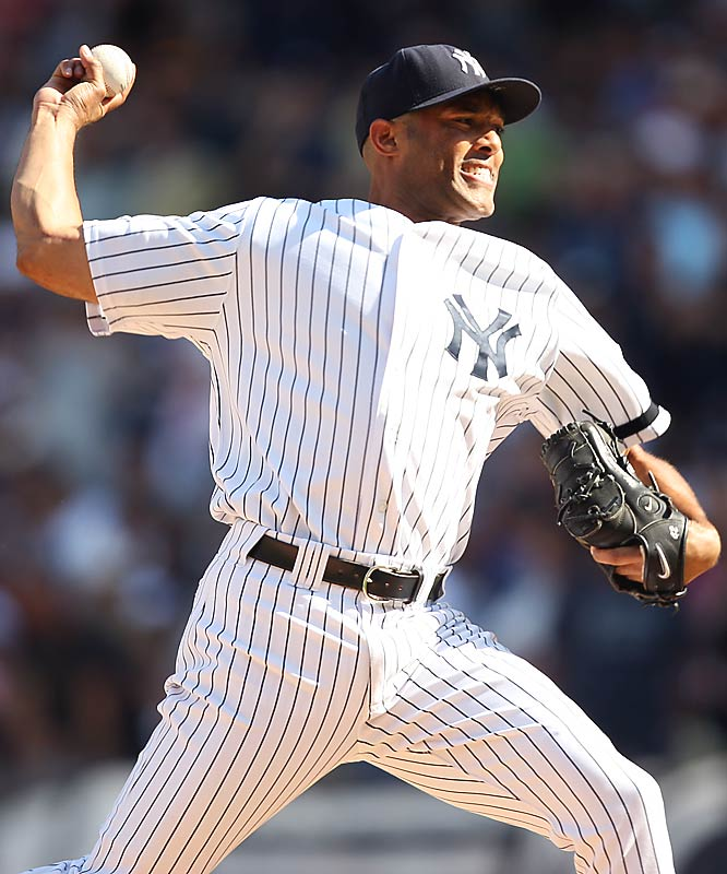 "Rivera, the greatest closer in baseball history will hang up his spikes after the 2013 season. Now 43, he has dominated and intimidated hitters with his cut fastball and ""Enter Sandman"" entrance music since breaking in with the Yankees in 1995. In 18 years, Rivera has racked up an MLB-record 608 saves, and appeared in 12 All-Star games. Before his '12 season was cut short by a torn ACL, he had recorded 30 or more saves in nine straight seasons. Rivera also regularly shined in the postseason, when he saved 42 games, had a 0.70 ERA in 141 innings pitched and helped New York win the World Series five times."