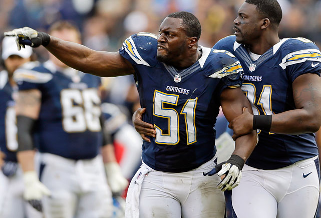 The 15-year linebacker will be moving out of San Diego after the Chargers released him. The two-time Pro Bowl selectee has seen his numbers decline in recent years but maintained his durability, starting every game over the past three seasons. Incredibly, despite 219 career games played, Spikes has never appeared in a playoff game.