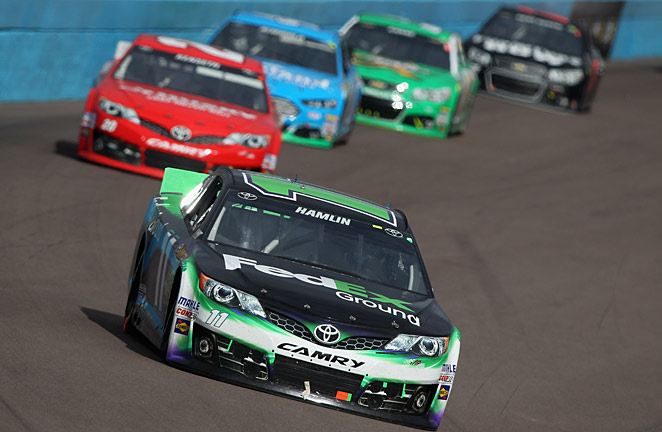 If an angry driver is indeed a fast driver, Denny Hamlin will be in great shape in the Kobalt Tools 400.