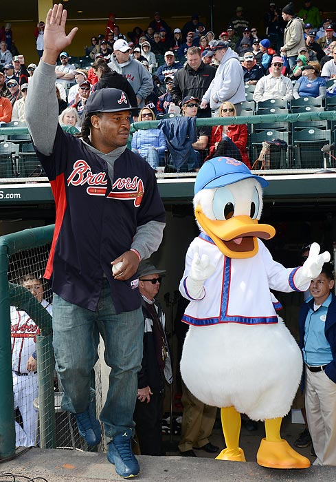 Georgia's highly touted linebacker has been seen hanging out with the likes of Donald Duck at Atlanta Braves' spring training games in Lake Buena Vista, Florida.