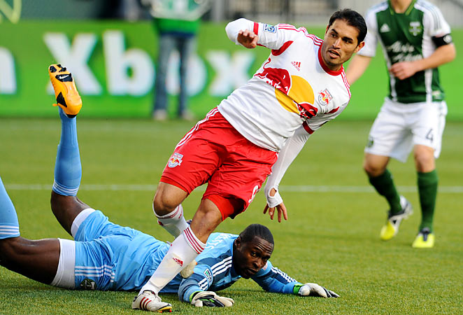 Former Real Salt Lake striker Fabian Espindola is one of many offseason acquisitions made by the Red Bulls. The forward scored twice in New York's season-opening 3-3 draw against the Portland Timbers.