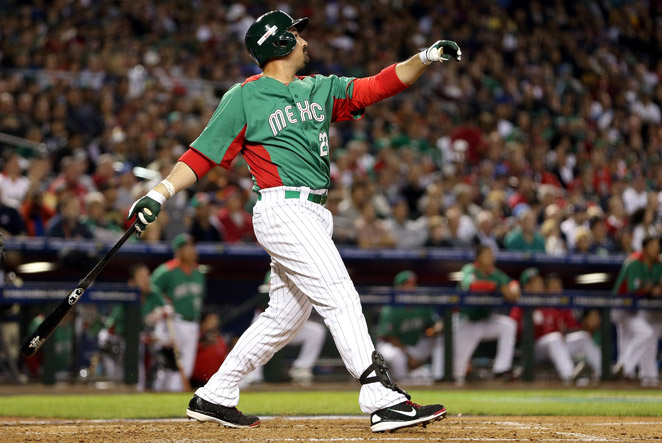 Adrian Gonzalez paced Mexico with three runs batted in, including a two-run homer in the third inning.