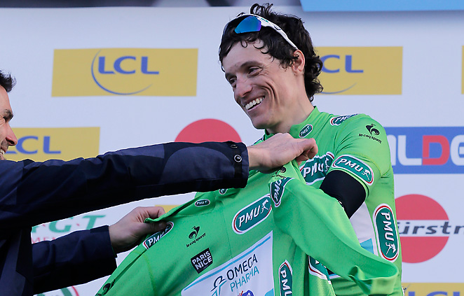 Sylvain Chanel is given the best sprinter jersey on Monday, he assumed the leader's jersey on Saturday.