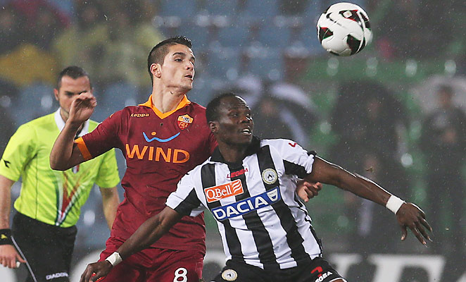 Erik Lamela scored Roma's only goal in their 1-1 draw with Udinese