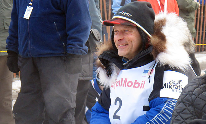 Martin Buser has won four Iditarods and is currently in position to capture his fifth victory in the race.