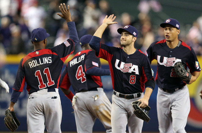 Ryan Braun (center) and the U.S. need a win Sunday against Canada to stay alive in the WBC.