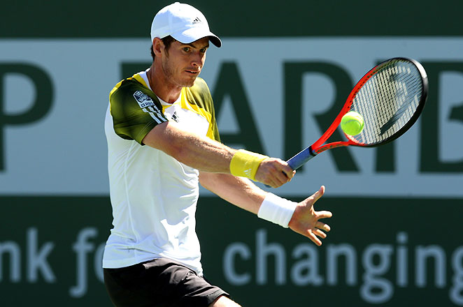 Andy Murray dropped the first set to  Evgeny Donskoy before rallying to win at Indian Wells on Sunday.