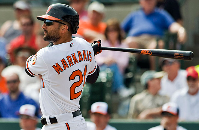 Nick Markakis has not played since March 3 and is coming off an injury-plagued 2012 season.