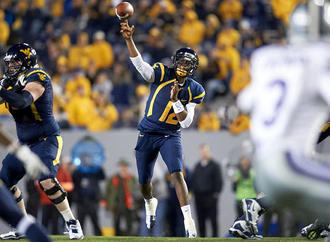 Smith shined in West Virginia's spread offense, throwing for 4,205 yards and an NCAA-best 42 touchdowns with just six interceptions as a senior. His accuracy greatly improved in 2012, reflected by his 71.2-percent completion percentage, 5.4 percentage points better than in his junior year. His one knock is his lack of experience under center as he played nearly exclusively from the shotgun with the Mountaineers.