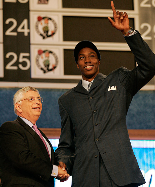 "In 2004, Howard opted to forego college and declare for the NBA draft. Orlando made him the first pick. ""He's not a normal high school kid,"" general manager John Weisbrod said at the time, ignoring Howard's braces."