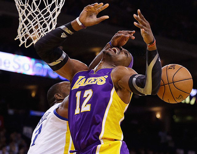 "Plagued by injuries and chemistry issues, the Lakers stumbled to a 17-24 record amid reports that Howard was feuding with everyone from coach Mike D'Antoni to star Kobe Bryant. ""It's just funny. We're losing. Every little story that comes out is geared toward breaking our team up,"" Howard told the <italics>Los Angeles Times</italics>. ""We're bigger than that. We're stronger than that and we're not going to let anything divide us."""